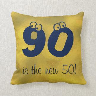 Fun 90th Birthday Saying Reversible Throw Pillow