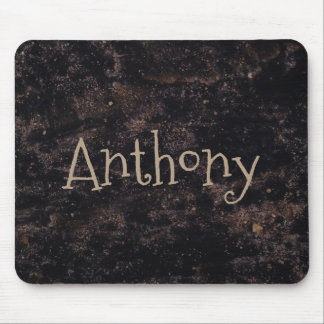 Fun Abstract Black and Brown custom Mouse Pad
