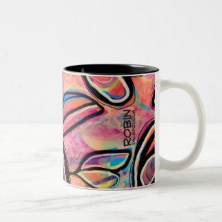 Fun Abstract Floral Mug