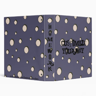 Fun! Abstract Polka Dots Notebook Avery Binder