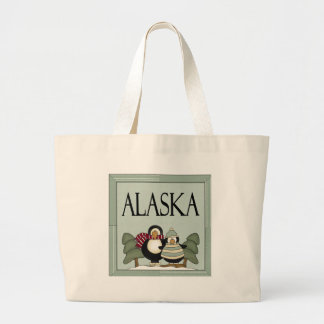 Fun Alaska Winter Design T-shirt Gift Large Tote Bag