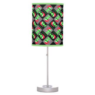 Fun Alien Santa Geek Humor LGM Christmas Pattern Desk Lamp