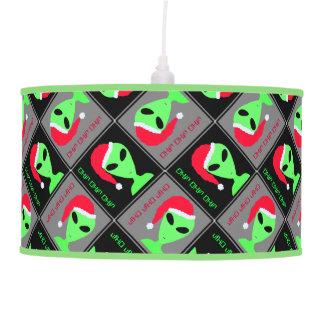 Fun Alien Santa Geek Humor LGM Christmas Pattern Lamps