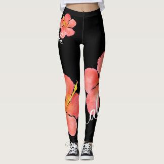 Fun Aloha Hibiscus Leggings