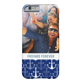Fun Anchor Pattern | Your Photo & Text Barely There iPhone 6 Case