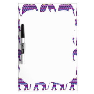 Fun and Bold Chevron Elephants on White Dry Erase Board