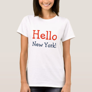 Fun And Bold Hello New York T-Shirt