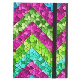 Fun and Bright Chevron Mosaic Tile Pattern iPad Air Case
