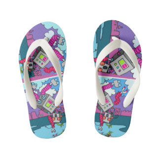 Fun and bright flip flops for kids