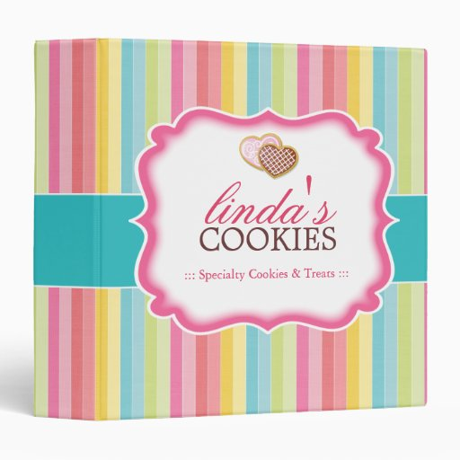 Fun and Bright Heart Cookies Binder