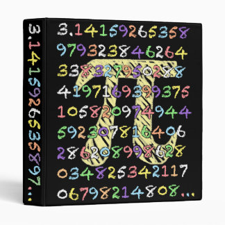 Fun and Colorful Chalkboard-Style Pi Calculated 3 Ring Binders
