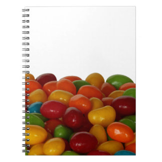 Fun and colorful jelly beans spiral note book