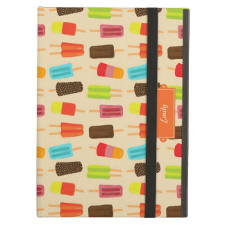 Fun and Colorful Popsicles Retro Pattern iPad Air Covers