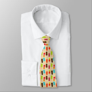 Fun and Colorful Popsicles Retro Pattern Tie