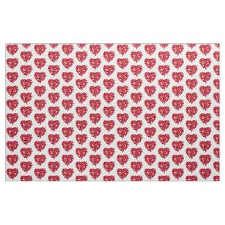 Fun and Colorful Valentine Hearts Fabric
