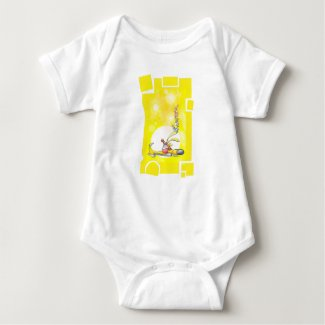 Fun and colourful Sleeping Puppy one-piece. Baby Bodysuit