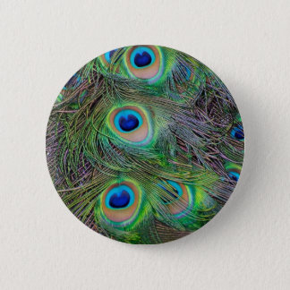 Fun and Cool peacock feather design 2 Inch Round Button