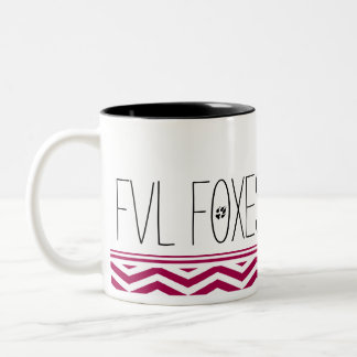 Fun and Customizable FVL Foxes Chevron Two-Tone Coffee Mug