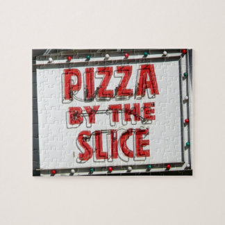 Fun and Difficult Pizza Sign in Sunlight Jigsaw Puzzle