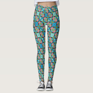 Fun and Funky Block Design Legging