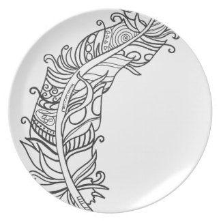 Fun and Funky Feather Series Dinner Plates