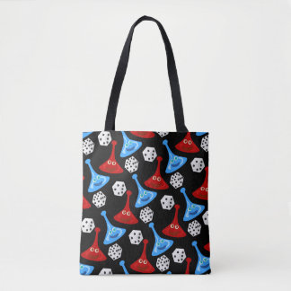 Fun and Games Boardgame Pattern Tote Bag