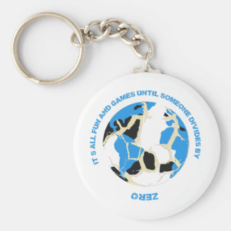 Fun and Games Divide by Zero Math Teacher Keyring