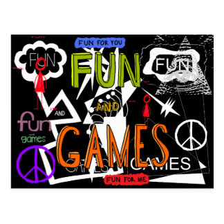 Fun And Games Postcard