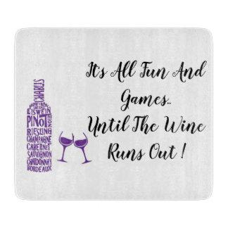 Fun and Games Wine Glass Cutting Board