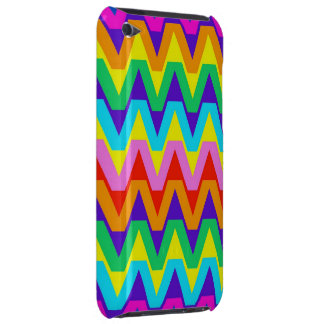 Fun and Happy Tropical Colors Chevron Pattern Case-Mate iPod Touch Case