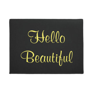 Fun and Inviting Hello Beautiful Doormat