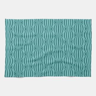 Fun and Modern Aqua Blue Circle Pattern Kitchen Towel