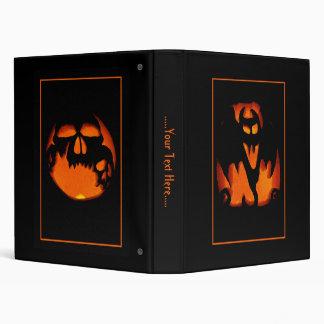 Fun and Scary Happy Halloween Pumpkins Vinyl Binder