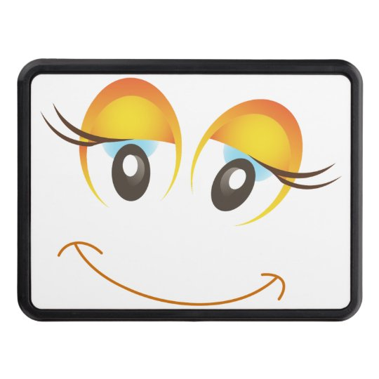 Fun and Simple Smiling Emoticon Trailer Hitch Cover