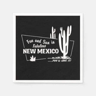Fun and Sun in Fabulous New Mexico Paper Napkin