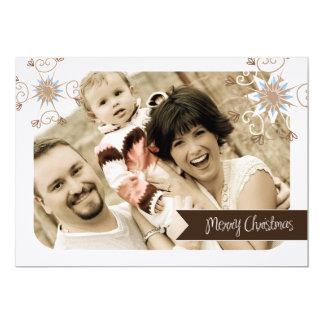"Fun and Whimsical Christmas Photo Card (5x7) 5"" X 7"" Invitation Card"