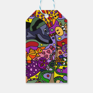 Fun Animal Abstract Art Gift Tags