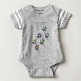 Fun animal paw prints. baby bodysuit