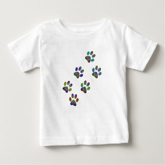 Fun animal paw prints. baby T-Shirt