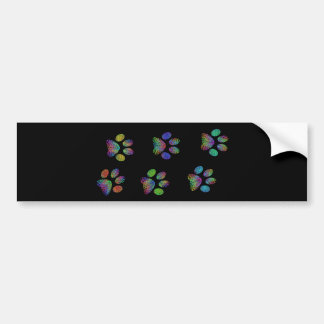 Fun animal paw prints. bumper sticker