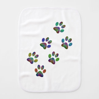 Fun animal paw prints. burp cloth