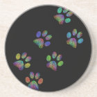Fun animal paw prints. coaster