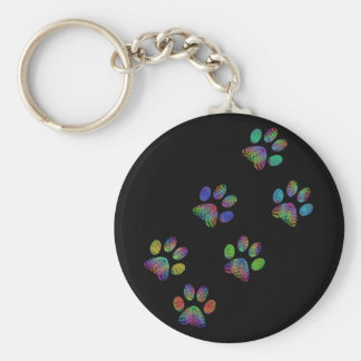 Fun animal paw prints. keychain