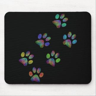 Fun animal paw prints. mouse pad