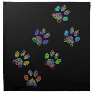 Fun animal paw prints. napkin
