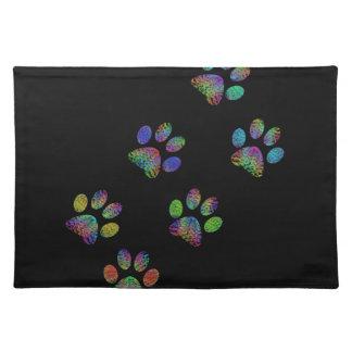 Fun animal paw prints. placemat