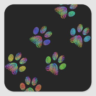 Fun animal paw prints. square sticker