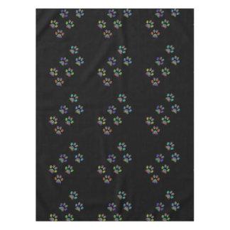 Fun animal paw prints. tablecloth