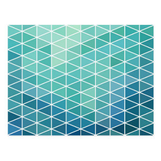 Fun Aqua Triangle Design Postcard