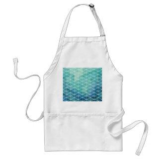Fun Aqua Triangle Design Standard Apron